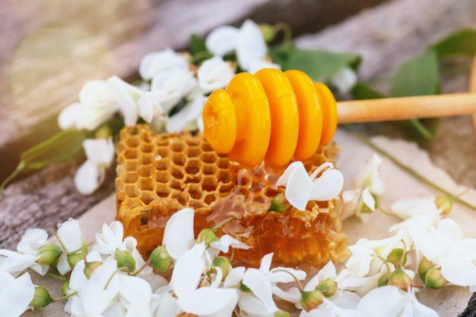 Honey and flower