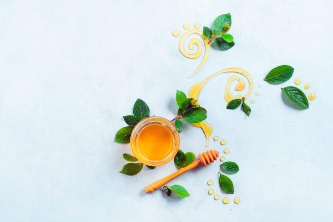 Honey and leaf