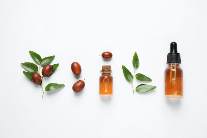 Jojoba oil with some leaf