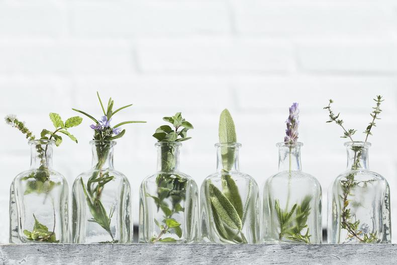 Bottled essential oils