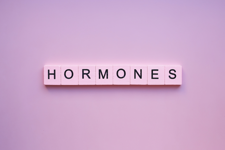Hormones logo on the pink background